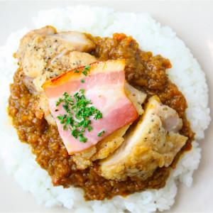 ドライカレー+チキン・ベーコン・オニオン